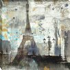 Midwest Art and Frame Eiffel Tower Neutral by Albena Hristova Painting Print on Wrapped Canvas