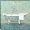 Midwest Art and Frame Damask Bath Tub by Avery Tillmon Graphic Art on Wrapped Canvas
