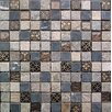 "Intrend Tile Cloudy Sand 12"" x 12"" Stone / Glass Square Mosaic Tile in 4 Color Blend"