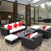 Outsunny Outsunny 7 Piece Lounge Seating Group with Cushion