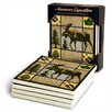 American Expedition Lodge Series Moose Square Coaster (Set of 4)