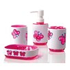 Immanuel Kid's 4 Piece Butterfly Bathroom Accessory Set