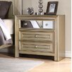 Fairfax Home Collections Champagne 3 Drawer Nightstand