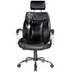 Comfort Products Louis Leather Computer Chair in Black