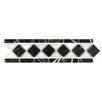 Seven Seas Bianco Carrara Basket Weave Border Polished in Nero Marquina and Arctic White