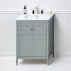 """Ronbow Briella 24"""" Bathroom Vanity Cabinet Base in Ocean Gray"""