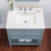 Ronbow Rectangle Ceramic Undermount Bathroom Sink with Overflow in White