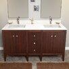 """Ronbow Sophie 60"""" Bathroom Vanity Base in American Walnut"""