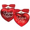 Lighthouse Christian Products 2 Piece King & Shepherd Ornaments Set