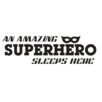 Dana Decals A Superhero Sleep Here Wall Decal