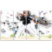 Design Art Baseball Home Run 4 Piece Graphic Art on Gallery Wrapped Canvas Set