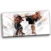Design Art Kick Boxing Side Kick Graphic Art on Wrapped Canvas