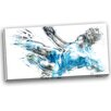 Design Art Soccer Power Kick Graphic Art on Wrapped Canvas