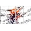 Design Art Basketball Abstract 3 Pointer 4 Piece Painting Print on Wrapped Canvas Set