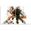 Design Art Basketball Let's Go Defense 4 Piece Graphic Art on Wrapped Canvas Set