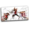 Design Art Basketball Jump Shot Graphic Art on Wrapped Canvas