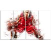 Design Art Basketball Dribble 4 Piece Graphic Art on Wrapped Canvas Set