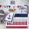 Pam Grace Creations Anchors Away 6 Piece Crib Bedding Set