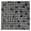 """Paragon 12"""" x 12"""" Glass Mosaic Tile in Lava"""