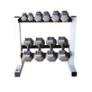 Cap Barbell 150 lbs Solid Hex Dumbbell Set with Rack