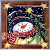 Continental Art Center Snowman with Star Tile Wall Decor