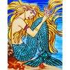 Continental Art Center Blonde Hair Mermaid Tile Wall Decor