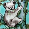 Continental Art Center Kola Bear on A Tree Tile Wall Decor