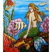 Continental Art Center Green Tail Mermaid Tile Wall Decor