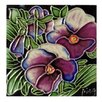 Continental Art Center Pansy Tile Wall Decor