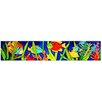 Continental Art Center Horizontal Marine Fishes Tile Wall Decor