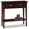 Leick Furniture Chocolate Oak Console Table
