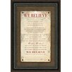 Carpentree We Believe Personalizable Framed Textual Art