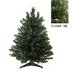Darice 2' Green Artificial Christmas Tree with 50 LED Multi-Color Lights and Stand