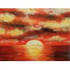 Buy Art For Less Sunny Ocean by Ed Capeau Painting Print on Wrapped Canvas