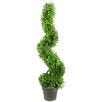 GSC, Inc Artificial Boxwood Leave Spiral Topiary Plant in Pot
