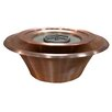 The Outdoor Plus Copper Gas Fire Bowl and 360 Water Flow