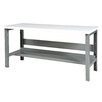 Parent Metal Products Height Adjustable Hard Wood Workbench
