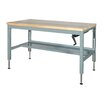 Parent Metal Products Motorized Hydraulic Height Adjustable Hard Wood Workbench