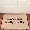 Be There in Five You're Like, Really Pretty Reminder Doormat