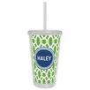 Whitney English Trellis Block Personalized Beverage Tumbler