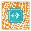 Whitney English Lizard Diamond Monogram Fabric Coaster (Set of 4)