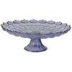 Established 98 Lilac Glass Cake Platter