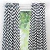 Zig Zag Rod Pocket Single Curtain Panel