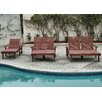 Best Redwood Sun Double Chaise Lounge