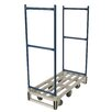 "Wesco Manufacturing 66"" x 23.75"" x 49"" U-Boat Platform Dolly"