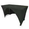 LA Linen Spandex Rectangular Open Back Tablecloth