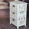 Vintique Wood 3 Drawer Cabinet