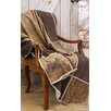 Carstens Inc. Brown Mustang Western Grid Throw