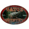 Rivers Edge Gator Country Tin Sign Wall Décor