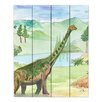 DiaNoche Designs Dinosaur IV by Catherine Holcombe Painting Print on Wood Planks